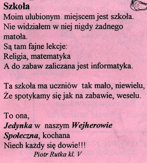 Historia Społeczna Szkoła Podstawowa Nr 1